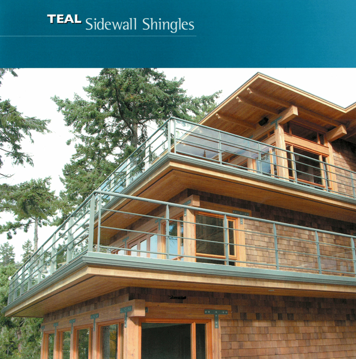Teal Sidewall Shingles